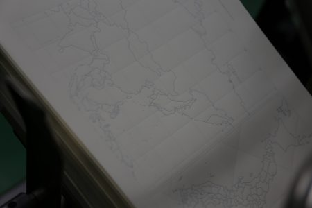 photo: 五感を刺激する白い地図